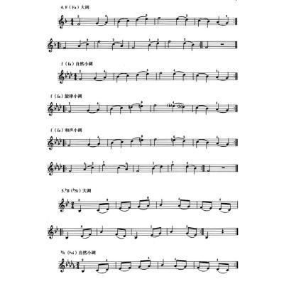 小提琴音阶训练教程(初级)图片