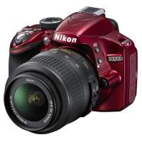 尼康(Nikon) D3200 单反套机(AF-S DX 18-55mm f/3.5-5.6G VR II 防抖镜头)红