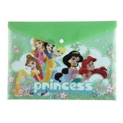齐心(comix)a4迪士尼系列可爱公主单袋按扣袋dd301(10