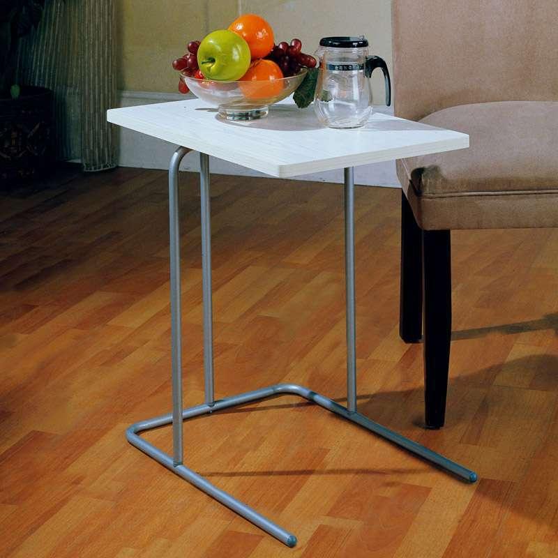 宝裕合styliving 茶几bfnd026ms烤银色漆带浅米色木板高清实拍图