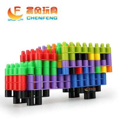 晨风玩具 桌面益智玩具拼插雪花乐高式童积木塑料拼软体插子弹
