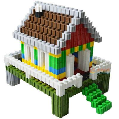 晨风玩具 万能百变积木拼插3d立体拼图乐高式塑料玩具积木