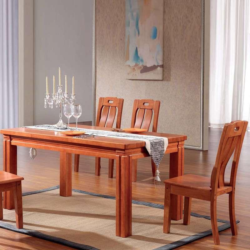 【进口纯橡木】家逸高端纯实木餐桌 长方形餐桌特价小户型餐桌 欧式餐
