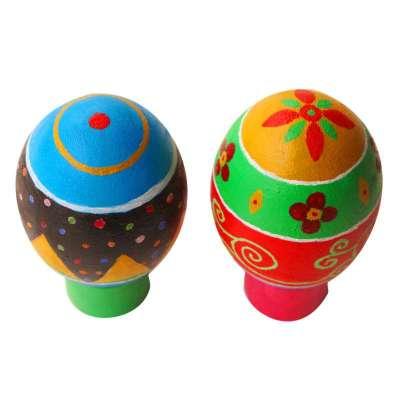 鸭蛋手绘材料包 原木端午节复活节彩蛋玩具(含绘画