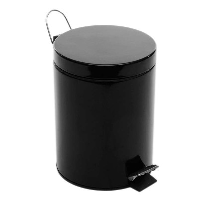 5l亮光时尚欧式圆形家用脚踏垃圾桶