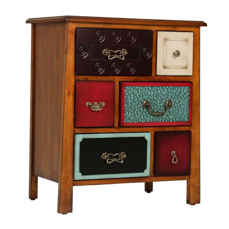 欧式古典 创意桦木边角柜手绘实木