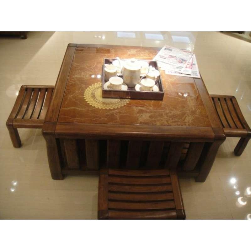 现代简约实木茶几餐桌图片价格