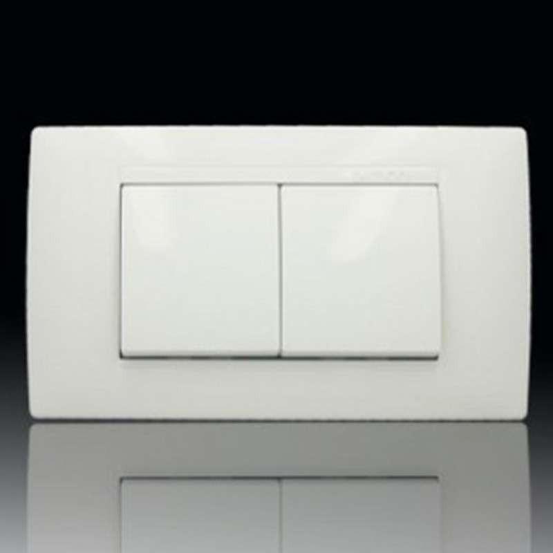 西蒙开关插座52系列118型双开双控开关(小盒) 二开双控(小)