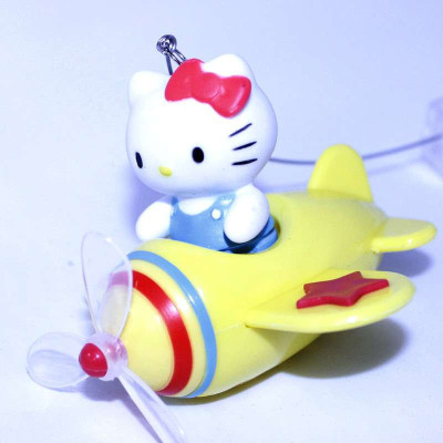日本hellokitty卡通小飞机出风口芳香剂 香水香薰kt181