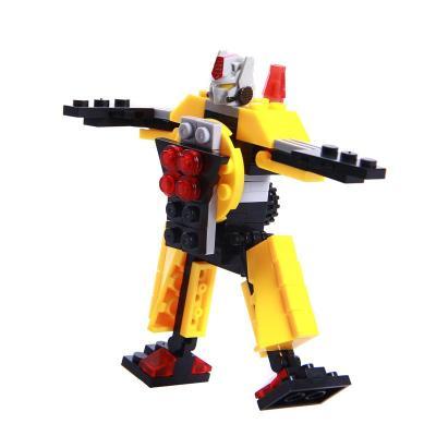 巧乐童机器人积木玩具拼插拼装玩具儿童塑料积木益智