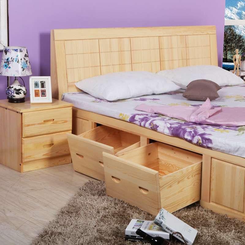 松香门第实木床 1.8双人床松木床1.5米单人床1