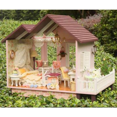 手工大型木质拼装别墅房浪漫模型