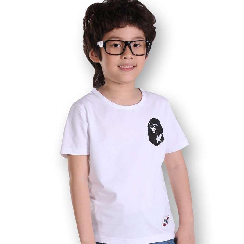 新款夏装大童童装儿童小孩衣服纯棉体恤 32040 32040白色 140cm