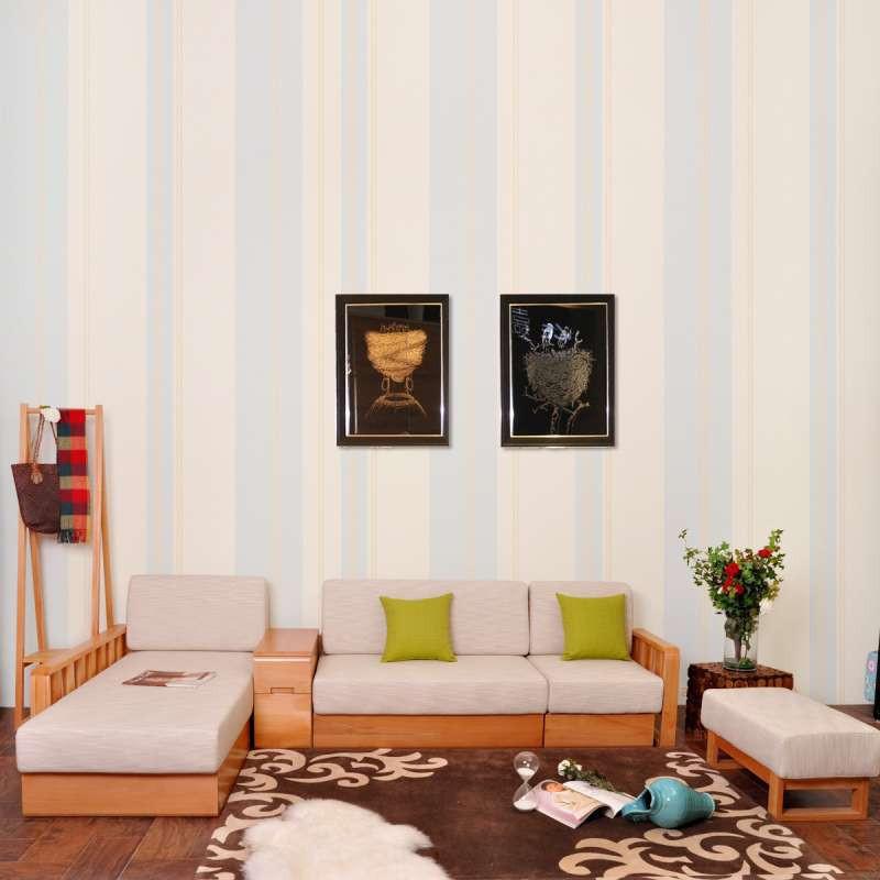 青岛一木家具 客厅实木沙发组合 木质沙发 榉木沙发 实木家具沙发 1 2
