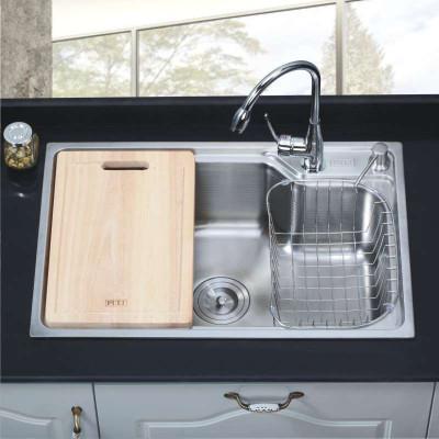 不锈钢水槽单槽尺�_pult普尔特 304不锈钢水槽单槽套餐 淘菜盆大单盆 带龙头 精细拉丝