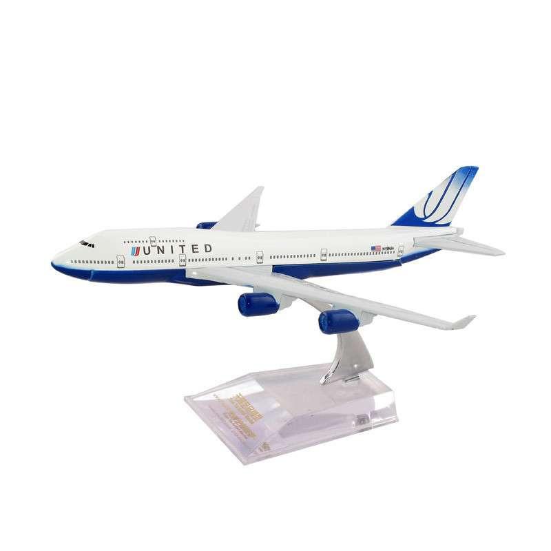 天雅艺品 16cm小合金飞机模型(儿童玩具)-----b747 美国联合航空1/440