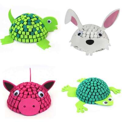 melon 3d立体拼图马赛克动物创意diy手工益智玩具婴幼儿园教具