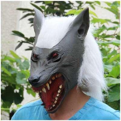 大灰狼面具制作步骤图解