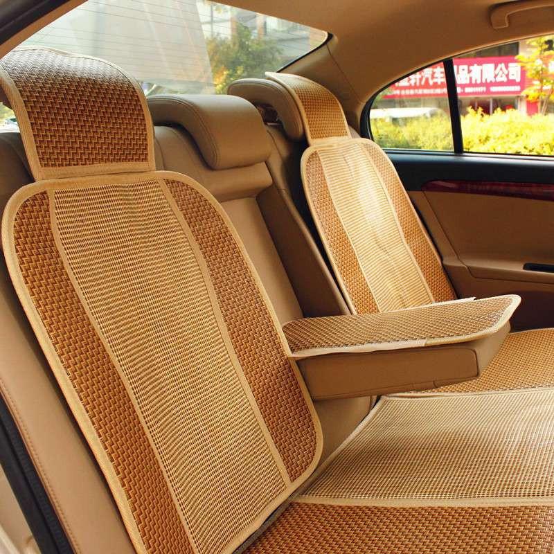 米多多汽车坐垫 夏季 新款四季 竹藤 凉席坐垫 汽车座垫 凉垫 通用车
