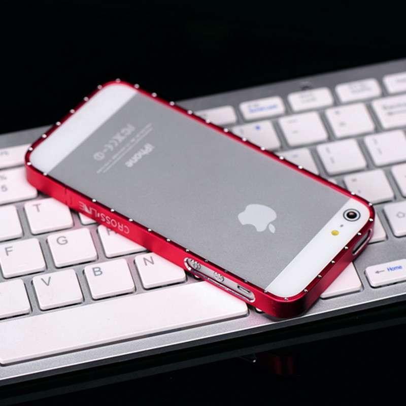 pandaoo镶钻金属边框 iphone5手机壳 苹果铝合金外壳