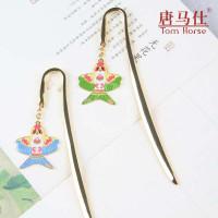 中国传统风筝书签 景泰蓝工艺 出国外事礼品 送