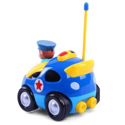 电动遥控警车赛车 儿童玩具遥控汽车模型