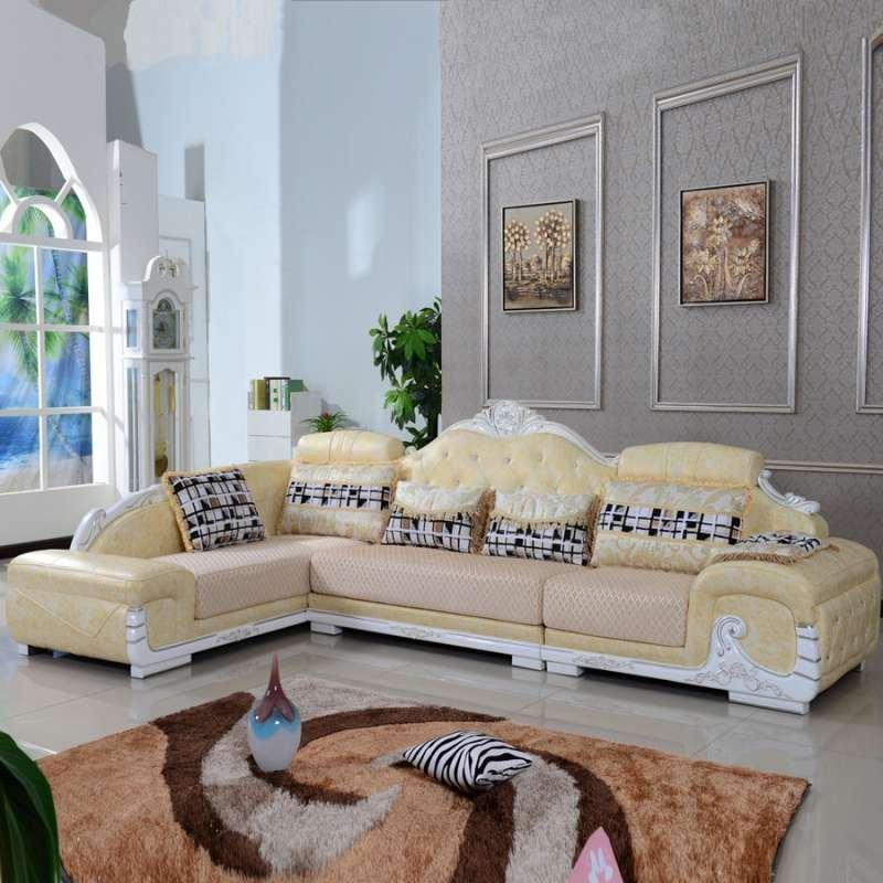 古唐域 真皮沙发 简约欧式法式新古典 布艺沙发 客厅转角组合 802