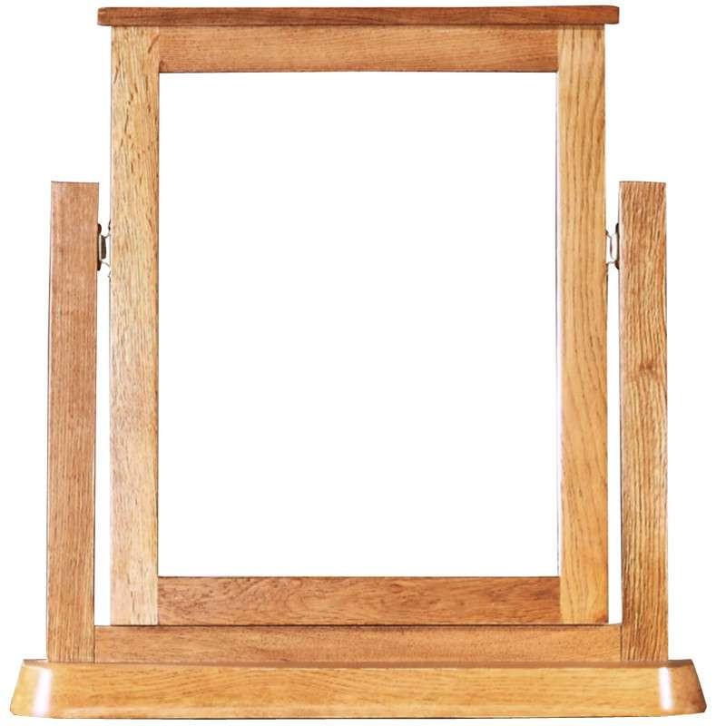 喜之林家具 zr127 简约梳妆镜 镜子 橡木镜子 仿古色