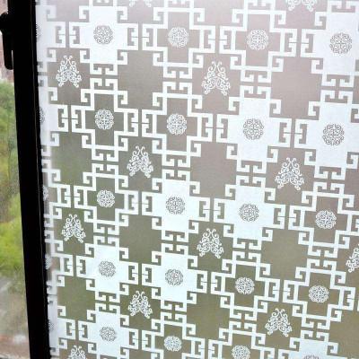 中式窗格花纹 浴室卫生间玻璃贴膜 透光不透明窗花贴纸 防水防晒