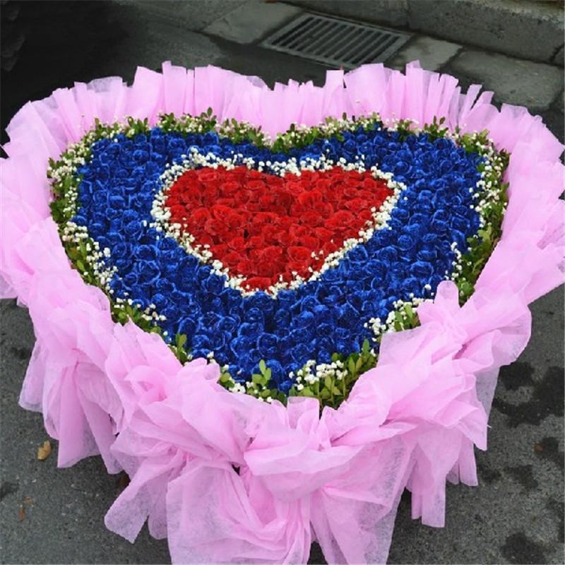 365朵红蓝玫瑰鲜花花束 商品图片页  高清实拍图 价格: 评价: 最新