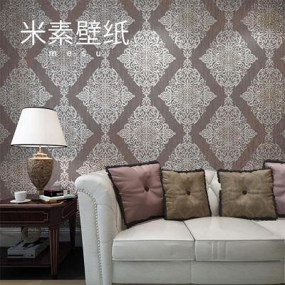 米素欧式墙纸卧室客厅电视背景墙壁纸复古壁纸立体君