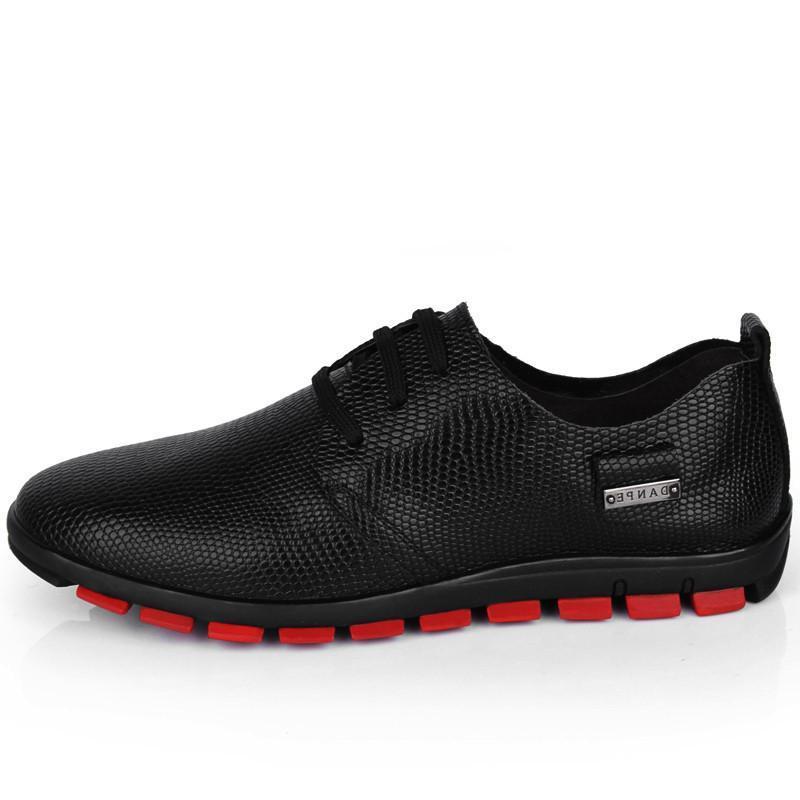 铭爵帝皇 男式商务休闲皮鞋 新款男士英伦风时尚蛇皮纹k7752 棕色 44