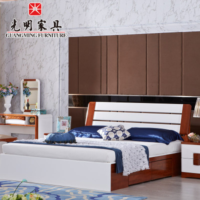 5米水曲柳全实木大床 全实木儿童床