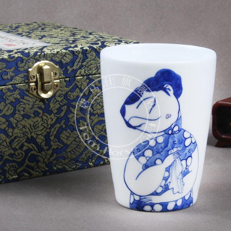创意手绘陶瓷茶杯子风