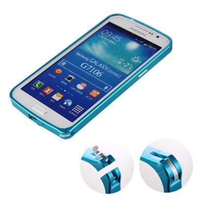 ydo 超薄金属边框 三星g7106手机框g7108手机壳保护套 保护框 天蓝色