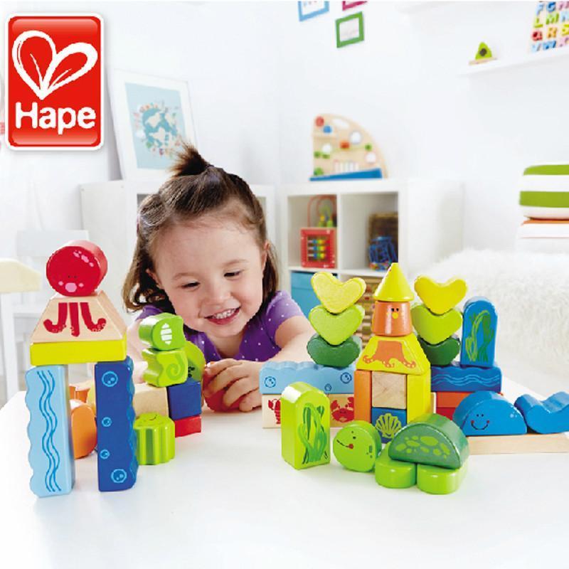 【hape堆叠积木 e0432】hape