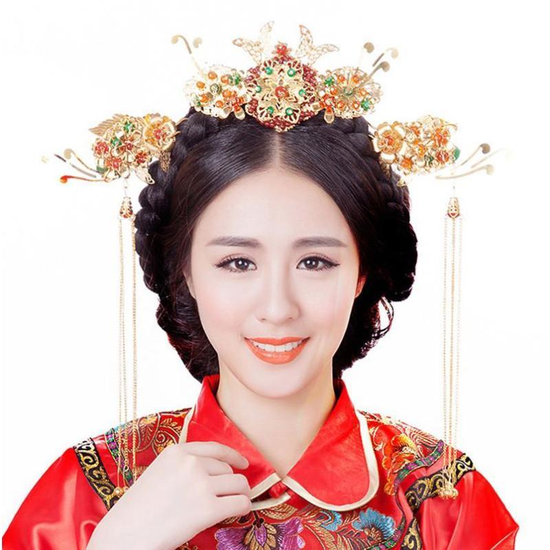新娘 倾世皇妃影视剧林心如同款头饰 古装古典婚庆发饰写真中式造型图片