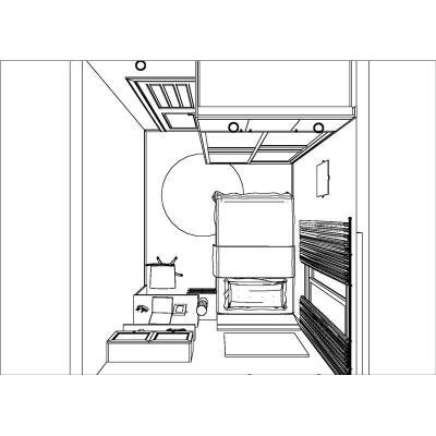 室内家具平面图手绘线稿