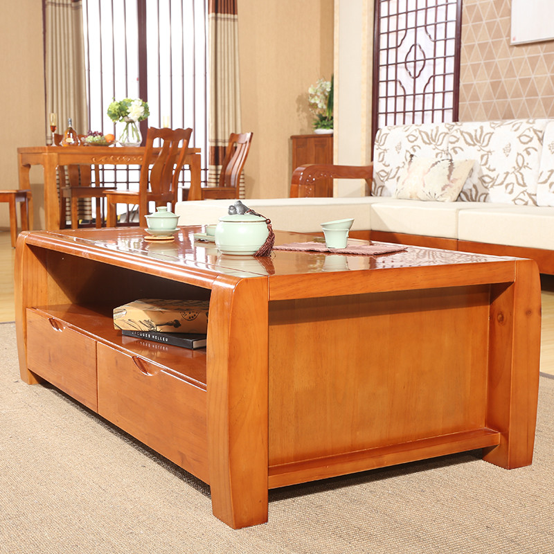 禾辰中式客厅茶几实木家具 现代中式客厅全实木茶几 现代大客厅适用