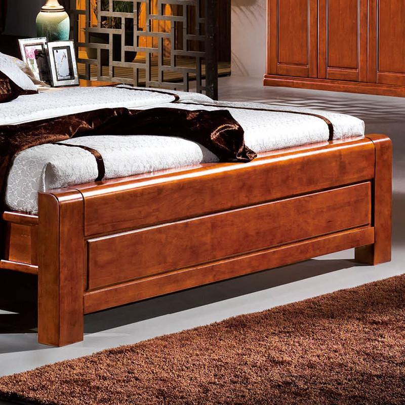 8米核桃木简约中式实木床