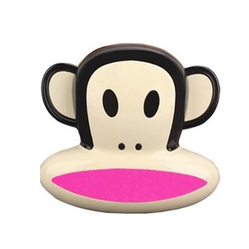 tqster 大嘴猴移动电源卡通可爱迷你充电宝手机通用8800毫安(玫红色)