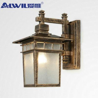 爱惟欧式现代户外壁灯庭院灯饰花园灯具简约创意景观灯室外灯b090古铜