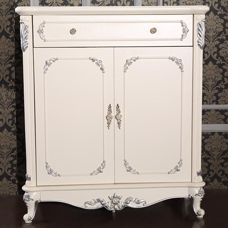 法丽莎家具g2简欧鞋柜新古典描银实木鞋柜简约欧式