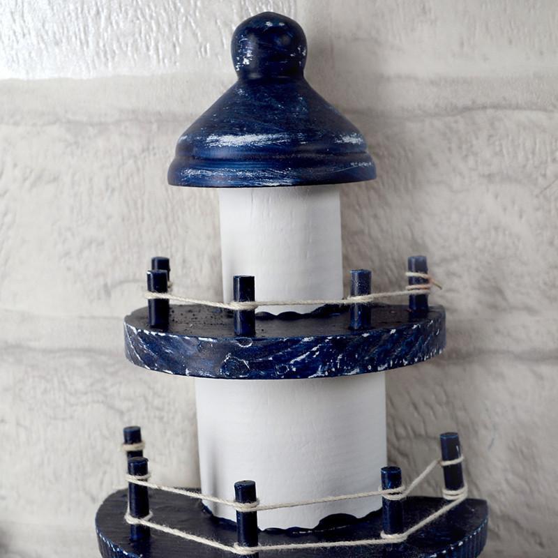 地中海风格装饰 木质灯塔了望塔 工艺品做旧海洋风摆件 摄影道具橱窗
