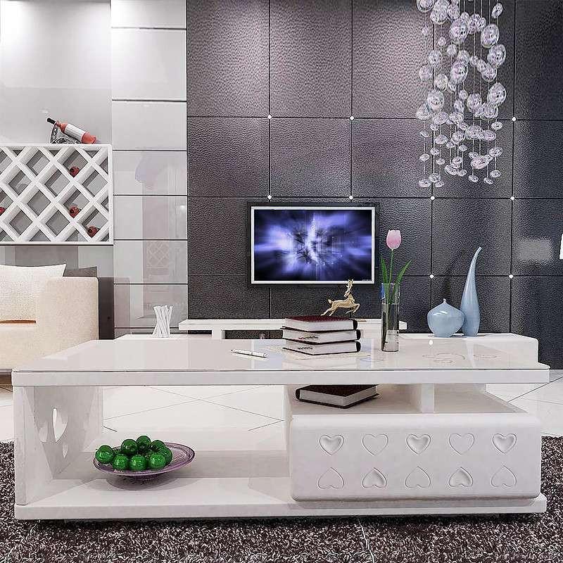 双虎家私 钢化玻璃茶几 电视柜套装 客厅家具组合qx002 单独电视柜