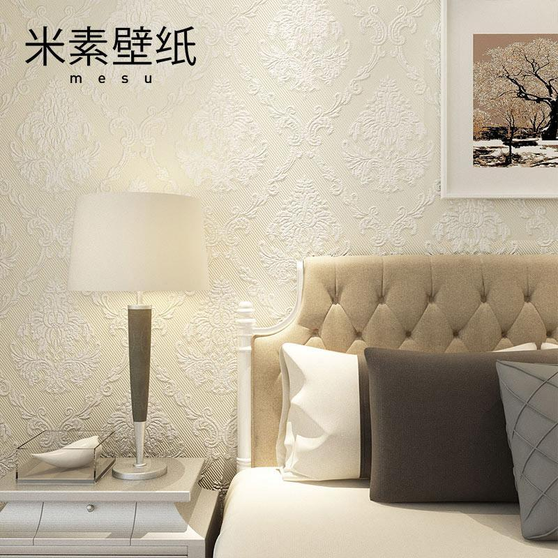 【米素旗舰店墙纸/墙布】米素壁纸无纺布 欧式环保  .