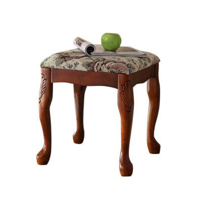 【雅居格椅子/凳子】美式实木梳妆凳 矮凳 欧式化妆凳