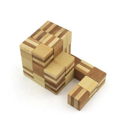 米米智玩 儿童木制孔明锁鲁班锁套装 成人智力拆装玩具【竹制神龙摆尾