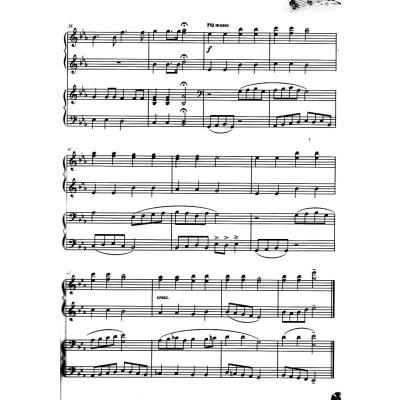 简单四手连弹钢琴曲