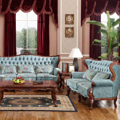 美式田园沙发地中海风格欧式高档布艺沙